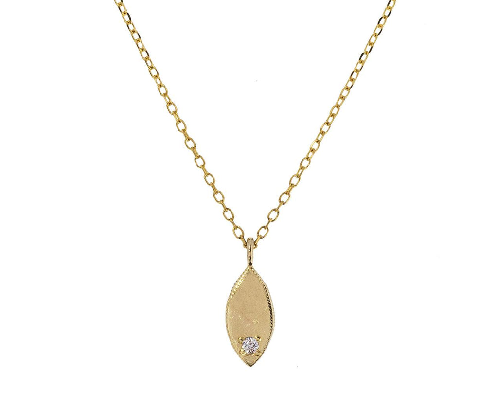 Diamond Oval Mirror Pendant Necklace - TWISTonline