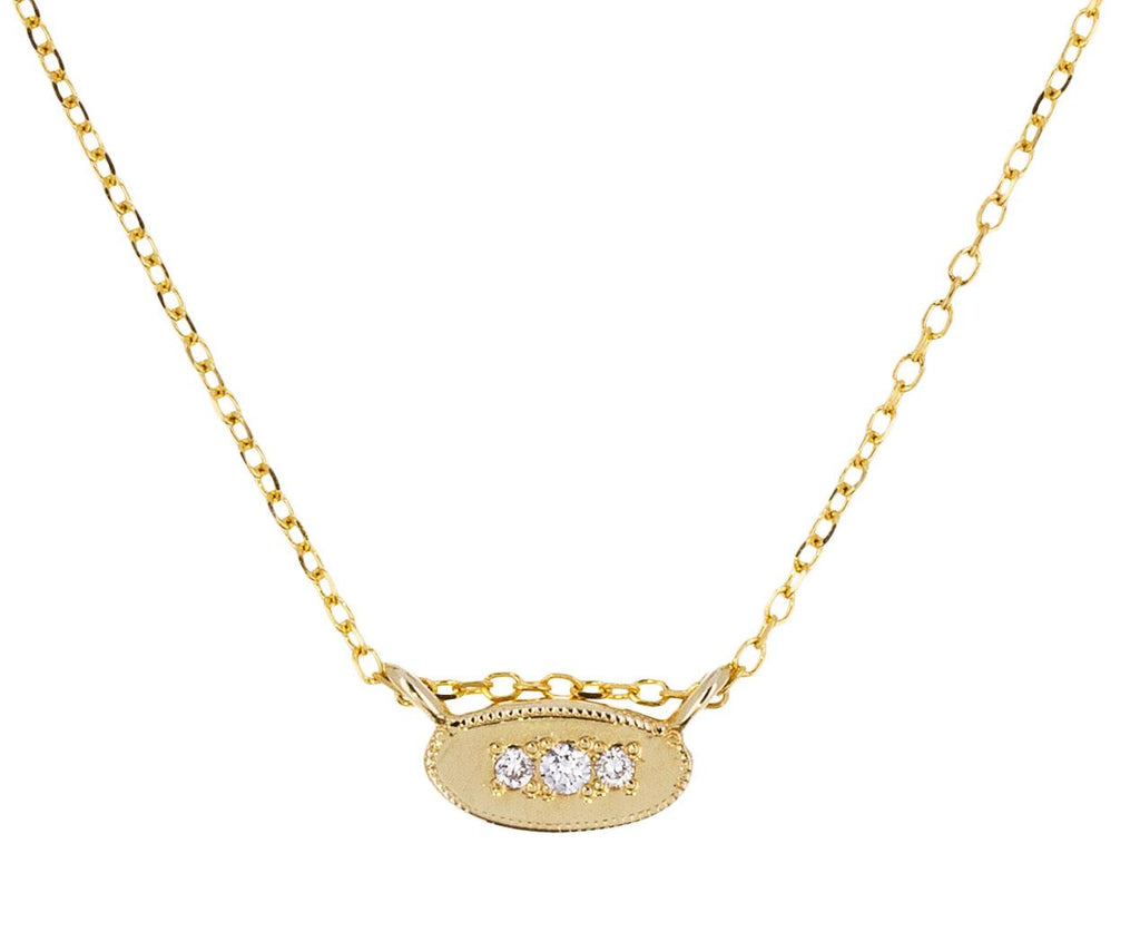 Oval Diamond Mirror Necklace - TWISTonline