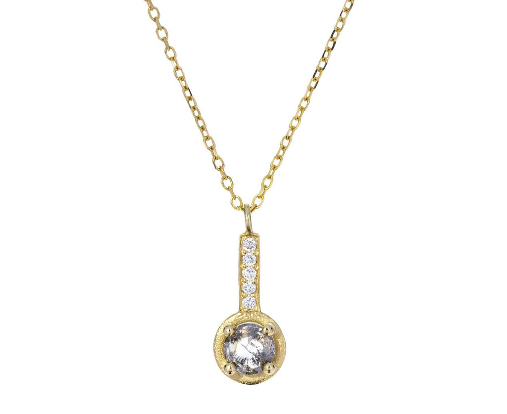 Salt and Pepper Diamond Pendant Necklace - TWISTonline