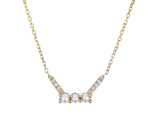 Pearl and Diamond Equilibrium Necklace - TWISTonline