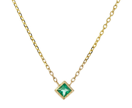 Princess Cut Emerald Necklace - TWISTonline