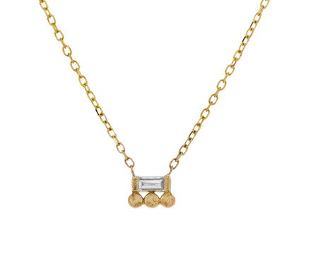 Baguette Diamond and Dots Necklace - TWISTonline