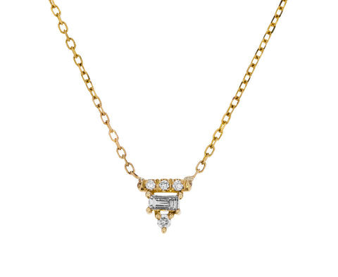 Diamond Baguette Bar Necklace - TWISTonline