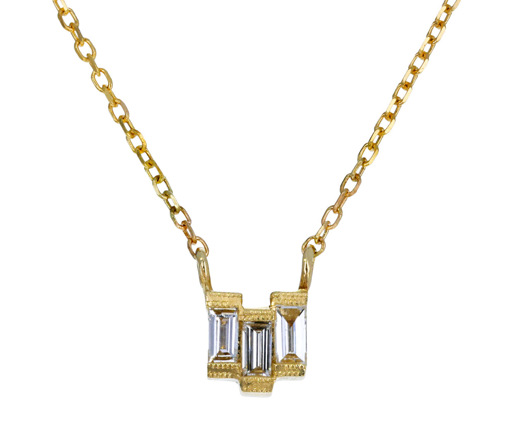 Baguette Diamond Step Necklace - TWISTonline