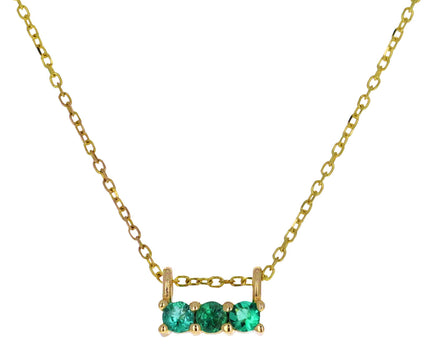 Triple Emerald Necklace