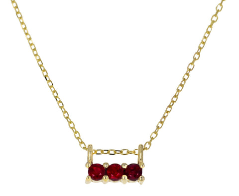 Triple Ruby Necklace