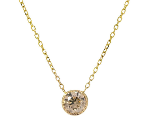 Champagne Diamond Magic Eye Necklace - TWISTonline