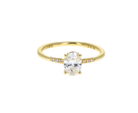 Oval Diamond Equilibrium Ring