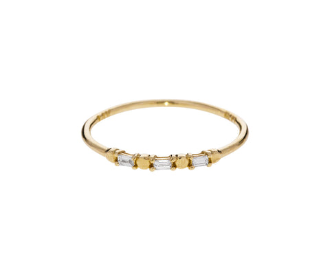 Baguette Diamond Dot ring - TWISTonline