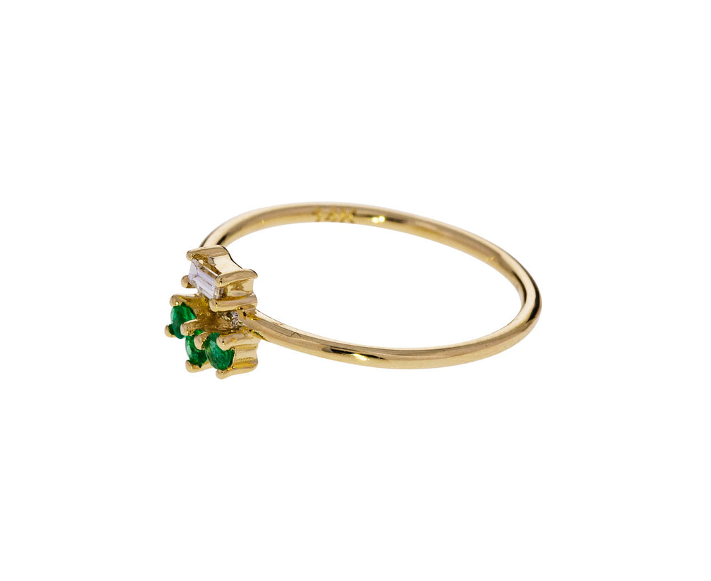 Emerald and Diamond Baguette Lace Ring - TWISTonline