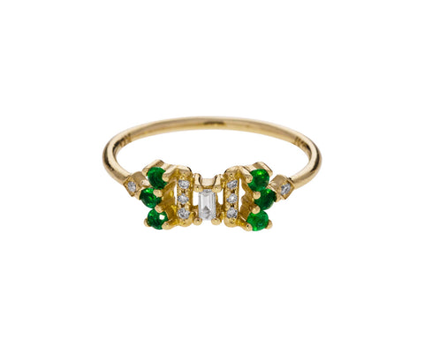 Emerald and Diamond Noey Ring
