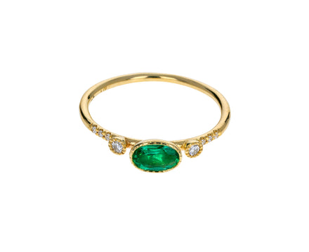 Emerald Diamond Dew Ring - TWISTonline