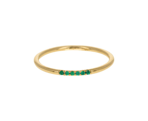 Semi Pavé Emerald Band