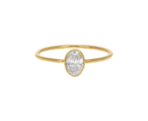 Oval Diamond Wisp Ring