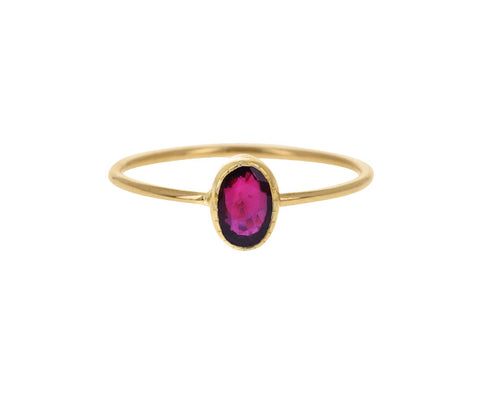Oval Ruby Wisp Ring
