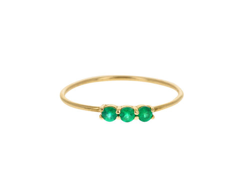 Triple Emerald Ring