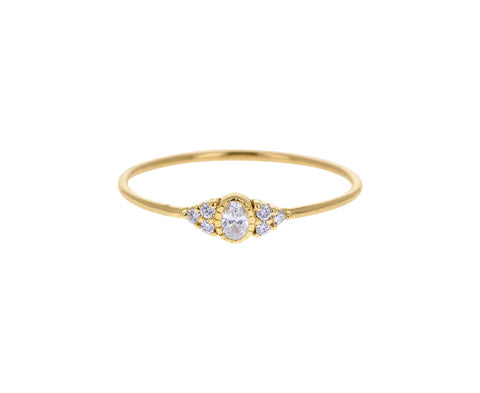 Oval Diamond Whisper Ring