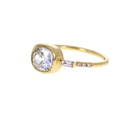 Cushion Cut EJ Diamond Ring