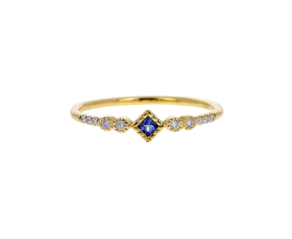 Sapphire and Diamond Journey Ring