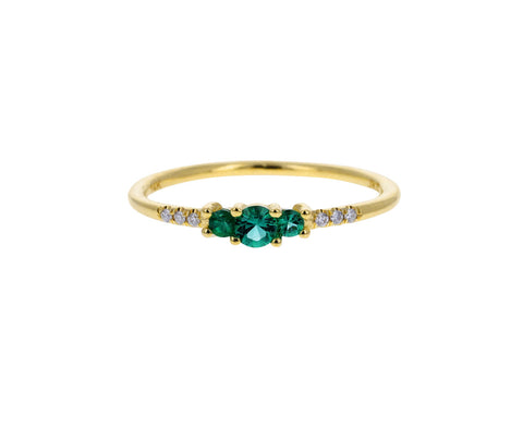 Emerald and Diamond Equilibrium Ring