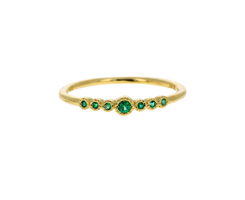 Graduated Emerald Ring