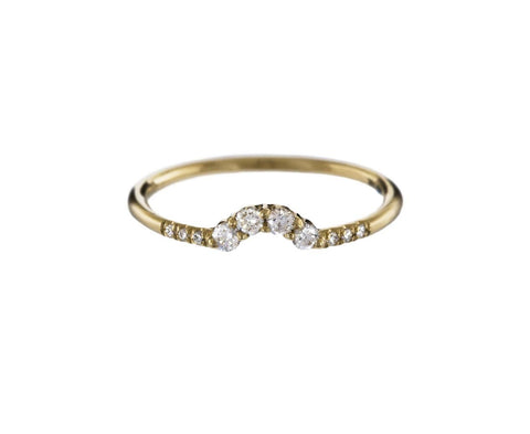 White Diamond Arc Ring - TWISTonline