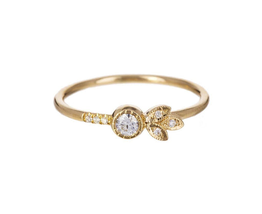 Diamond Leaf Ring - TWISTonline