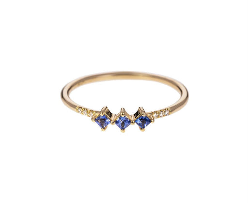 Light Blue Sapphire Equilibrium Ring - TWISTonline