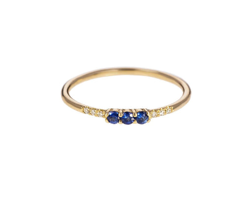 Blue Sapphire and Diamond Equilibrium Ring - TWISTonline