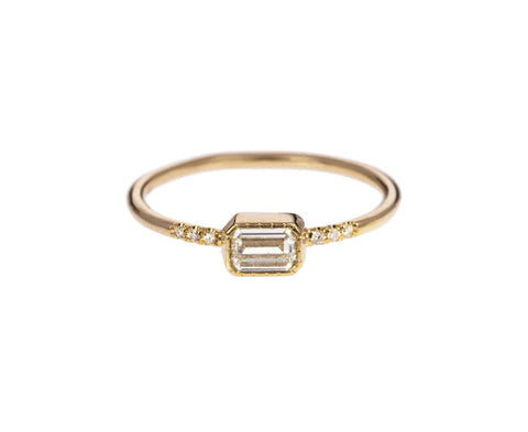 Emerald Cut Diamond Solitaire  zoom 1_jennie_kwon_gold_diamond_YS_ring