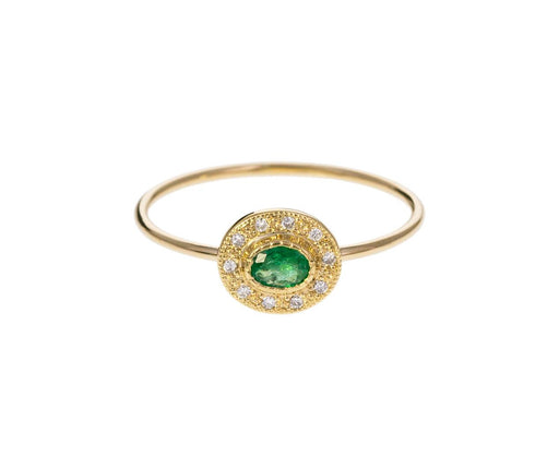 Emerald Diamond Halo Ring - TWISTonline