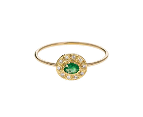Emerald Diamond Halo Ring zoom 1_jennie_kwon_gold_emerald_halo_ring