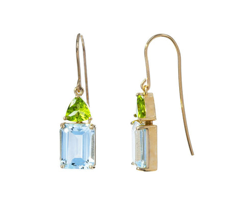 Aquamarine and Peridot Earrings - TWISTonline