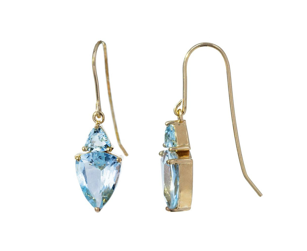 Double Aquamarine Earrings - TWISTonline