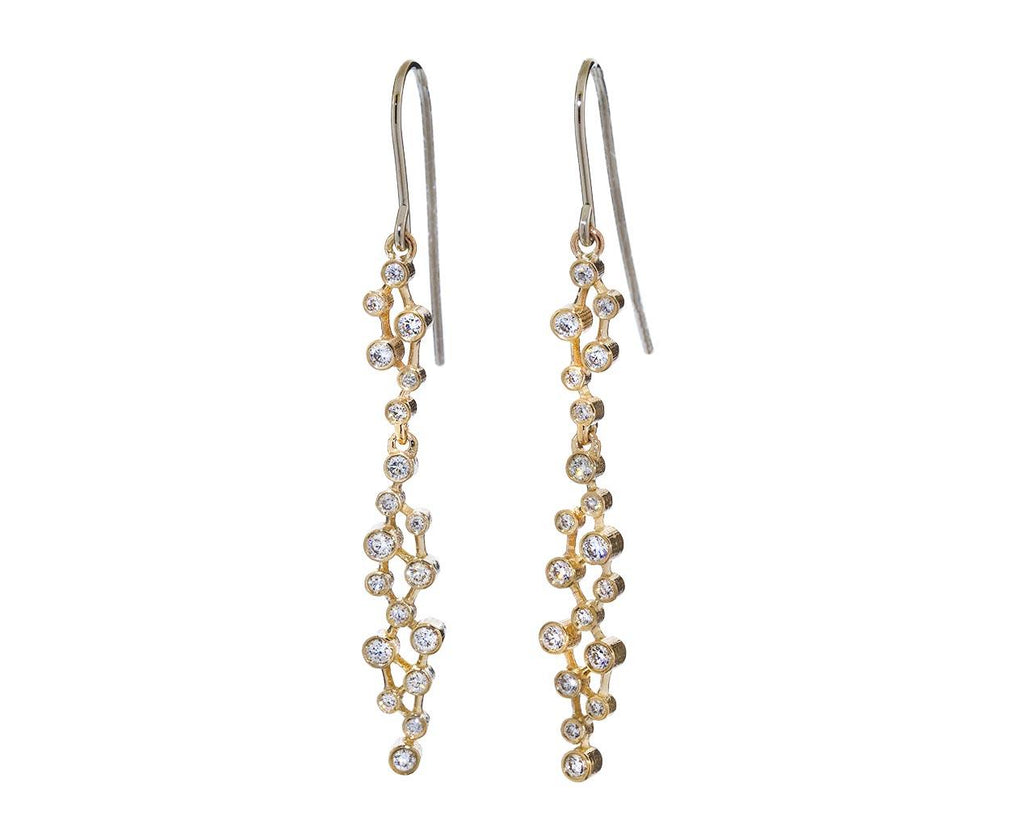 Diamond Cluster Dot Earrings - TWISTonline