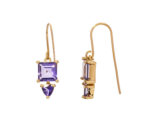 Double Iolite Earrings - TWISTonline