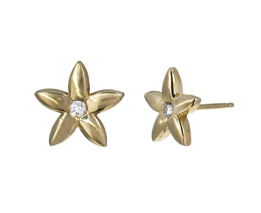 Large Diamond Flower Blossom Earrings - TWISTonline