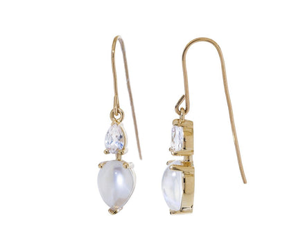 Moonstone and White Sapphire Earrings - TWISTonline