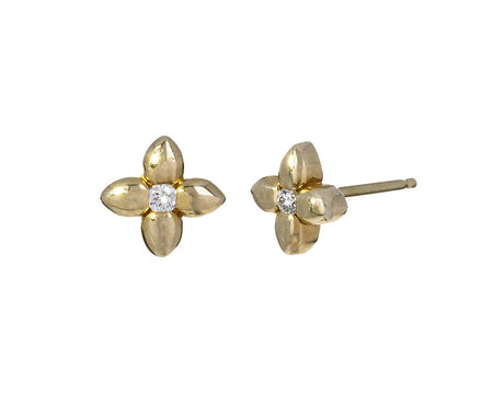 Extra Small Diamond Flower Stud Earrings - TWISTonline