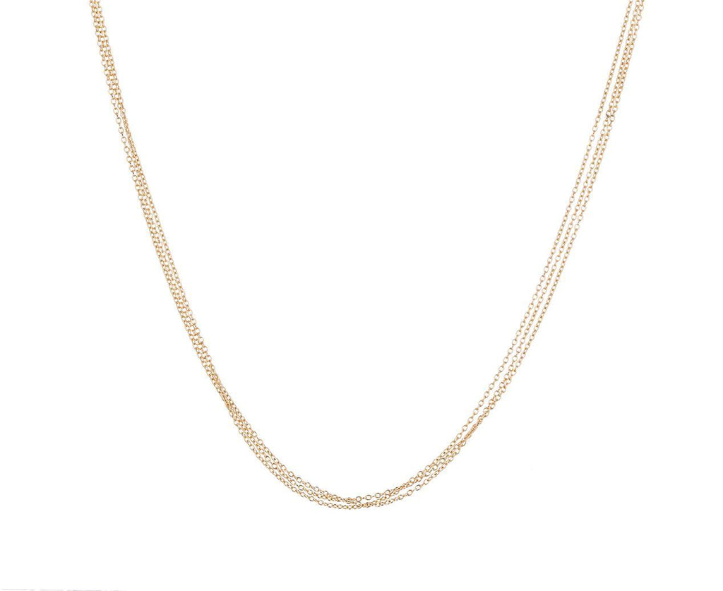 Triple Chain Necklace with Diamond Clasp - TWISTonline