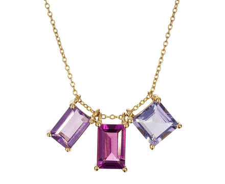 Amethyst, Garnet, Iolite Trio Necklace - TWISTonline