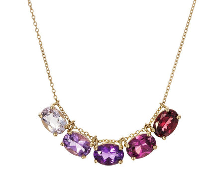 Ombre Amethyst and Sapphire Necklace - TWISTonline