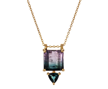Bi-Color Tourmaline and Iolite Necklace - TWISTonline