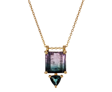 Bi-Color Tourmaline and Iolite Necklace
