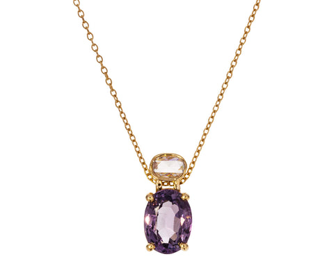 Diamond and Spinel Necklace