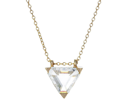 Triangle Diamond Solitaire Necklace - TWISTonline