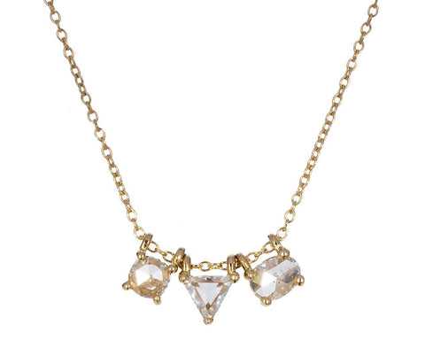 Mixed Shape Diamond Necklace - TWISTonline