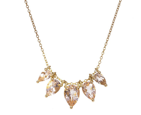 Morganite Teardrop Story Necklace - TWISTonline