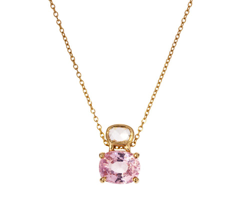 Diamond and Pink Spinel Necklace