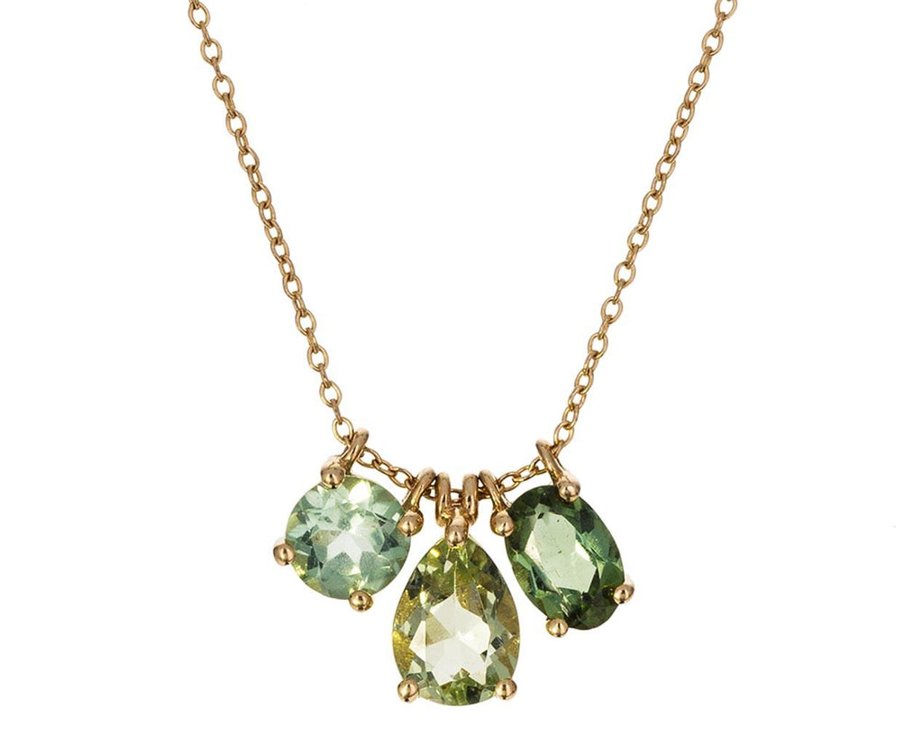 Green Tourmaline Trio Necklace - TWISTonline
